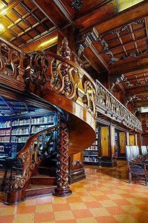 A public library in Lima.  Not bad!