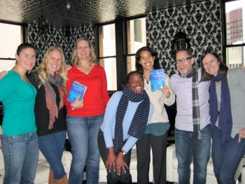 Met with this lovely group in San Francisco. We met in a group member's office building in the financial district. Wine, cheese, homemade cookies. FUN.