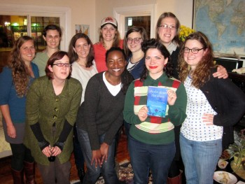 An Oakland book group. More homemade cookies, more wine. These women knew my book better than I did! We had a great discussion about class issues, addiction, astronomy, Oakland vs. San Francisco, etc. Thanks for having me!