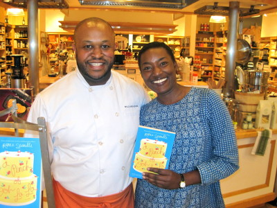 Chef Lamont showed the audience how to make a delicious Indian meal based on the dad's birthday scene from Pinch of Ooh La La.  So good!